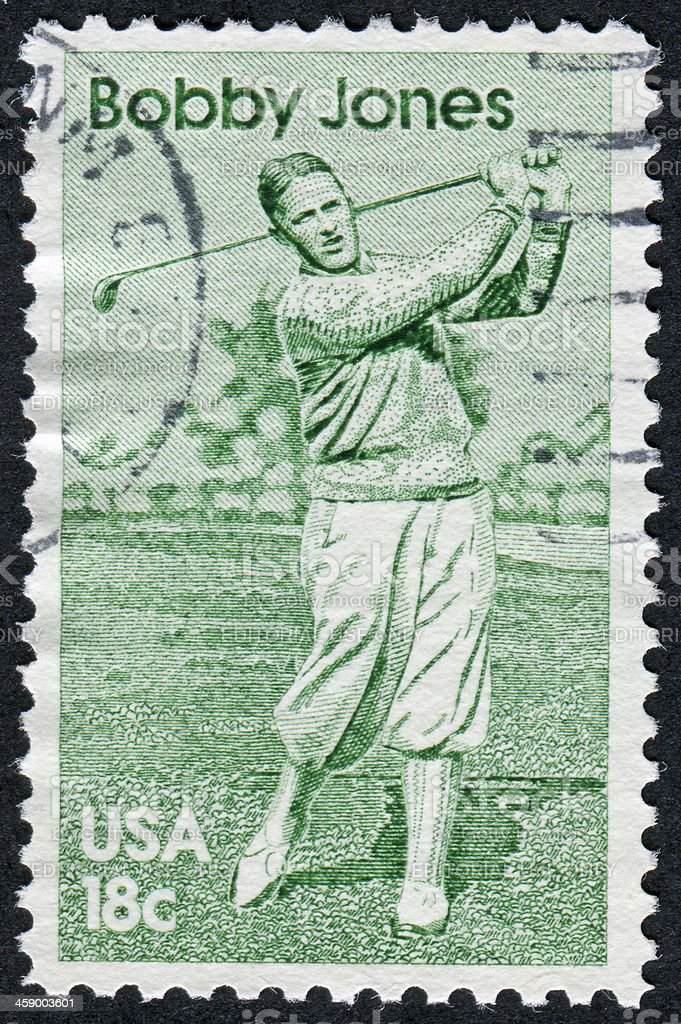 Bobby Jones Stamp stock photo