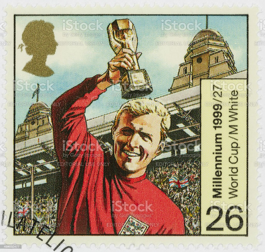 UK Bobby Moore World Cup postage stamp stock photo
