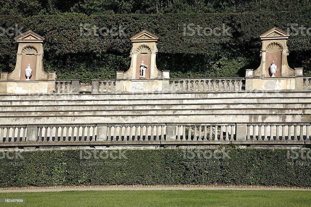 Bobli Medici jardines de Florencia, Italia foto de stock libre de derechos