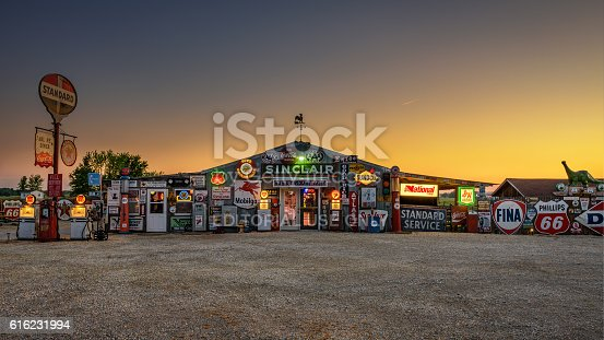 istock Bob's Gasoline Alley  on historic route 66 in Missouri 616231994