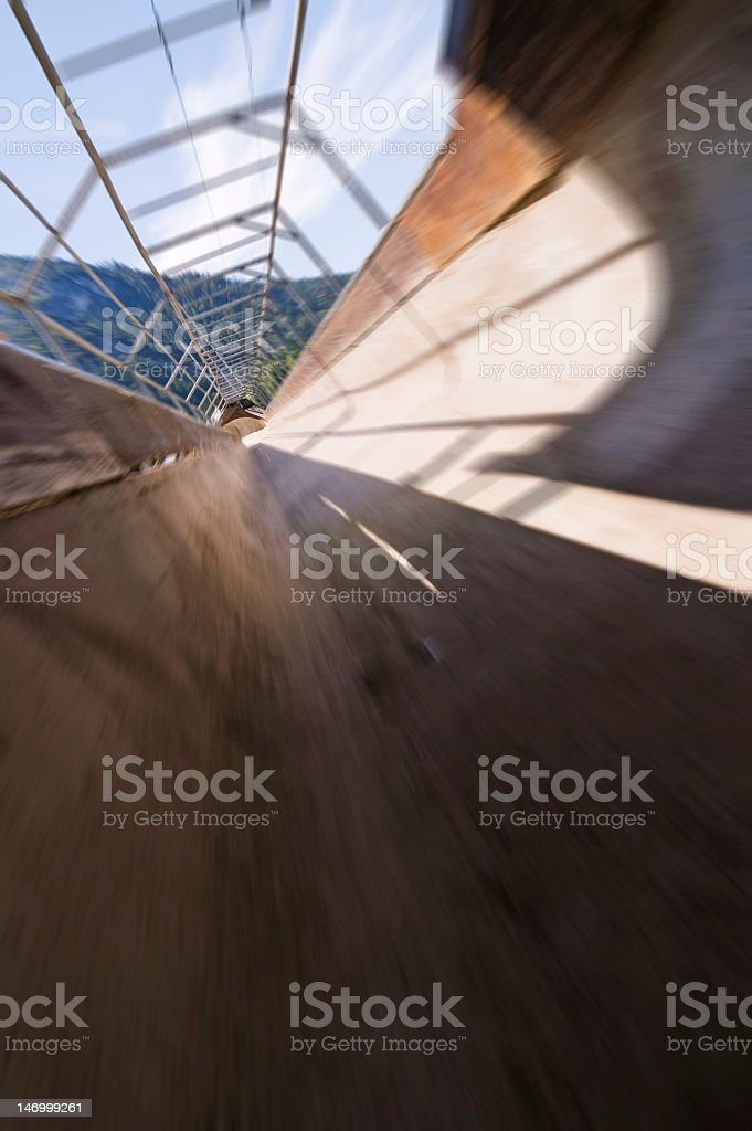 bobsleigh run blur stock photo
