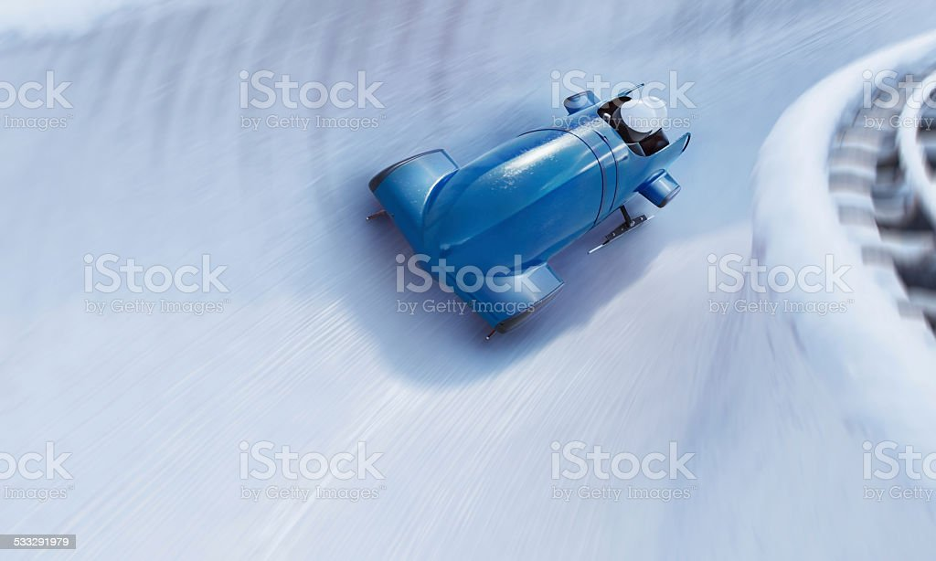Bobsleigh Team stock photo