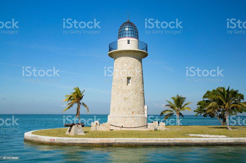 Boca Chita Lighthouse in Biscayne Bay Florida USA. - Royalty-free Architecture Stock Photo