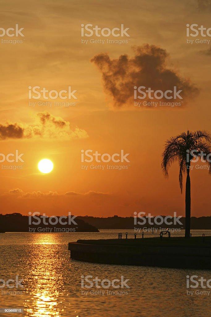 Boca Ciega Bay Sunrise stock photo