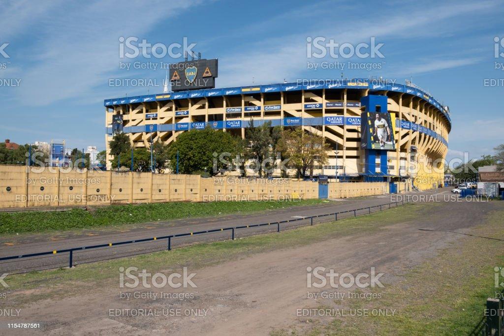 Estádio Boca Juniors - Foto de stock de Amarelo royalty-free