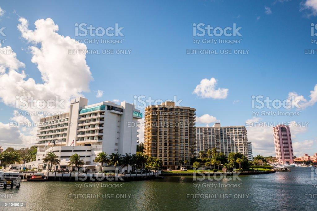 Boca Raton cityscape, USA stock photo