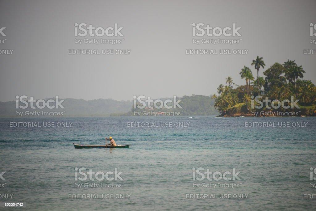 Bocas canoe stock photo