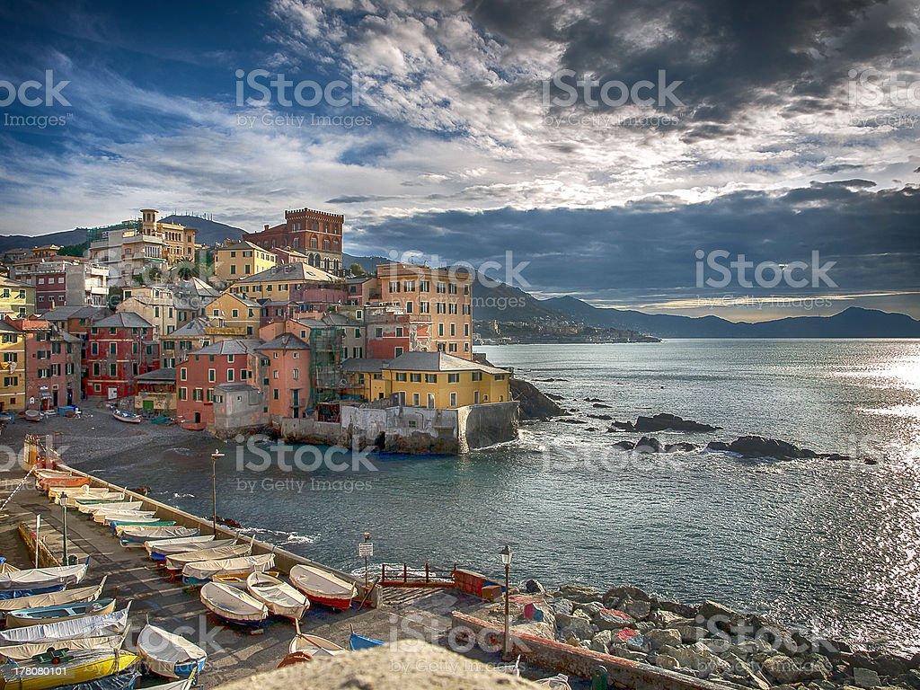 Boccadasse Genoa stock photo