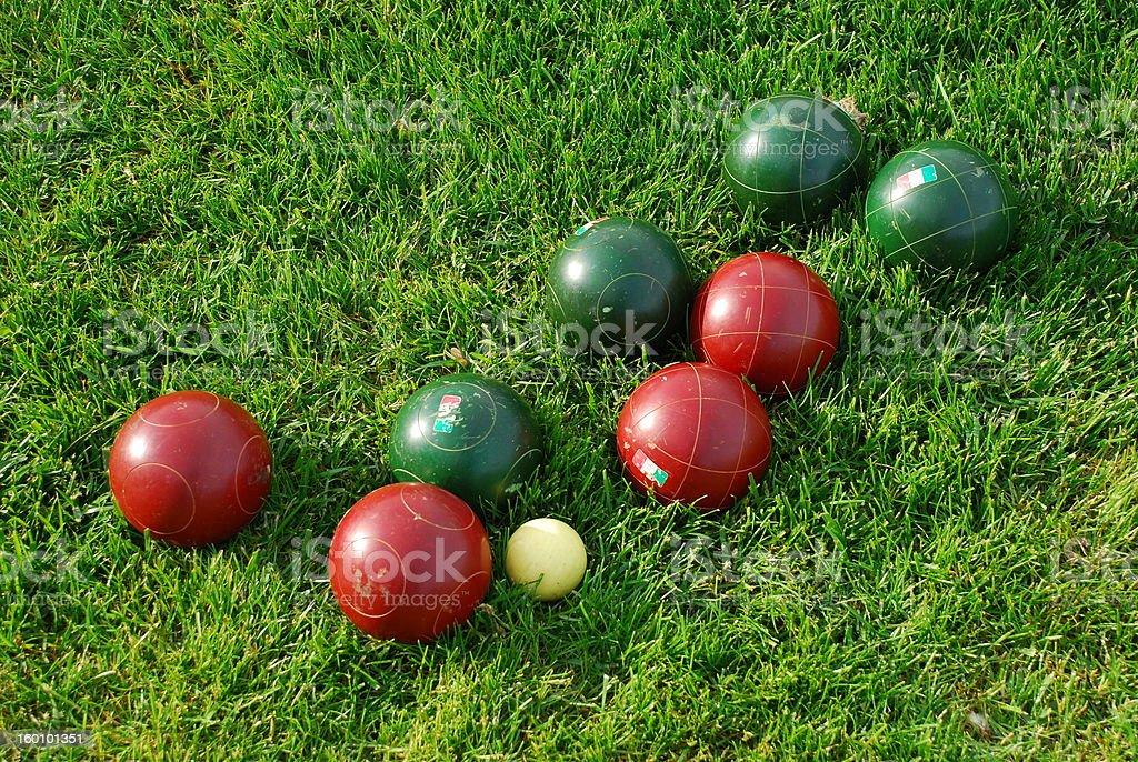 Bocce Ball stock photo