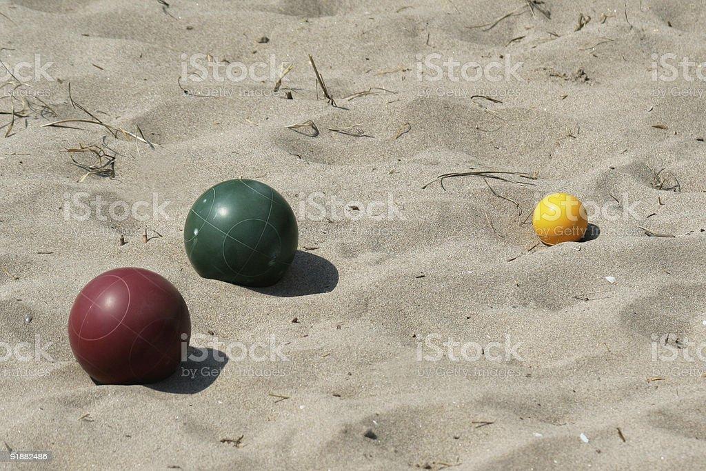 Bocce Ball royalty-free stock photo