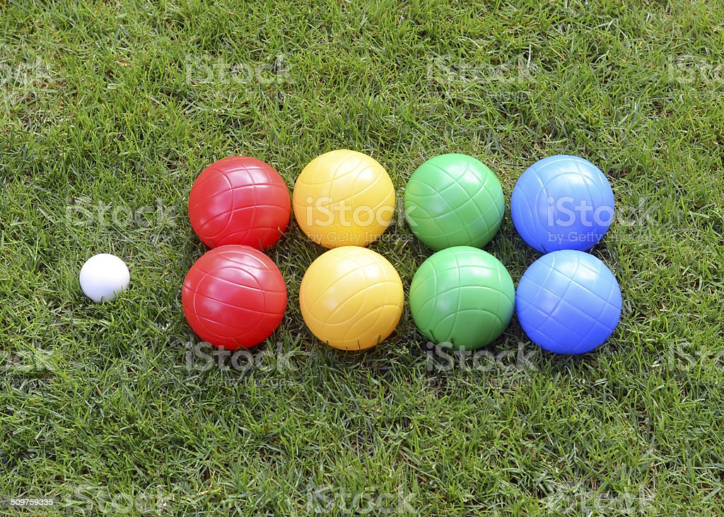 Bocce Ball Set stock photo