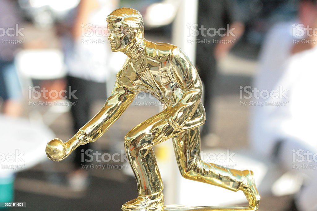 Bocce Trophy stock photo