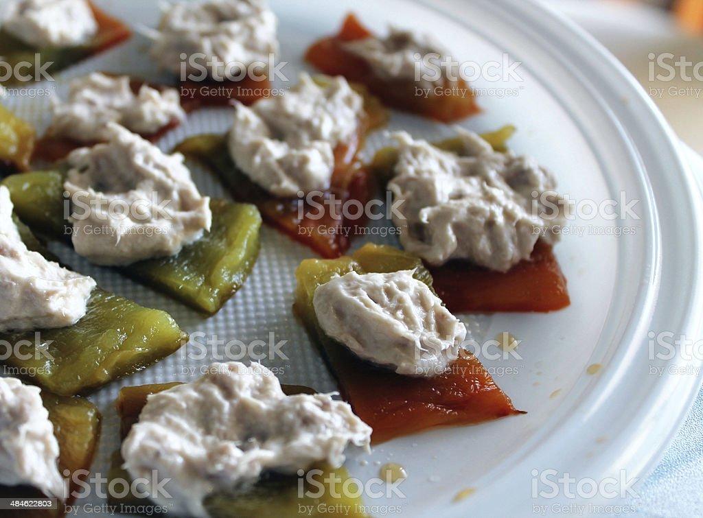 bocconcini di peperoni stock photo