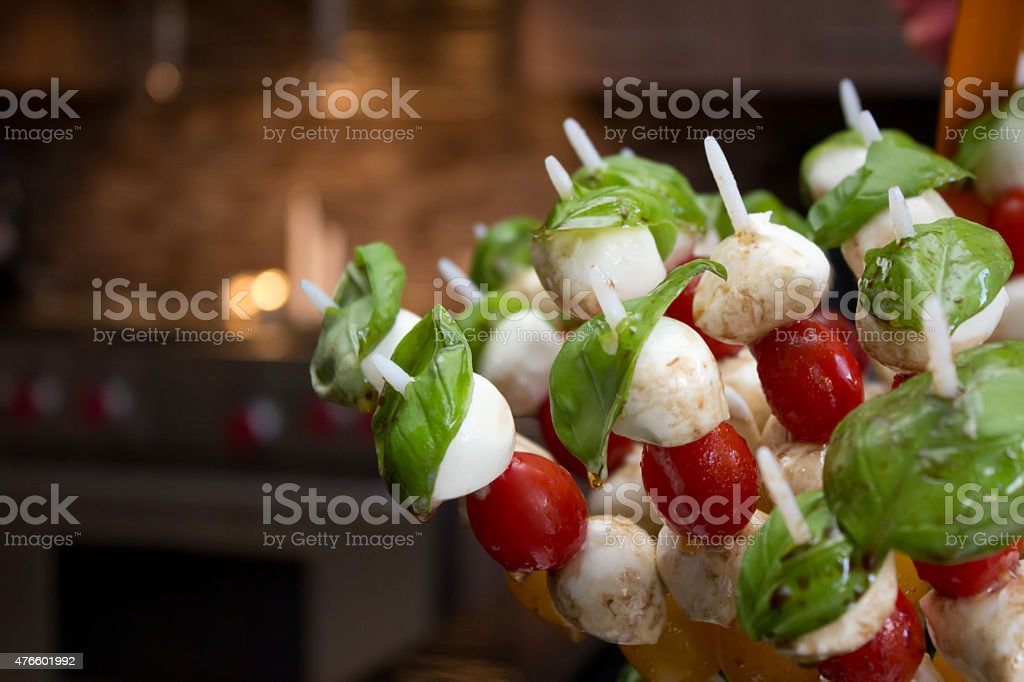 Bocconcini Skewers stock photo