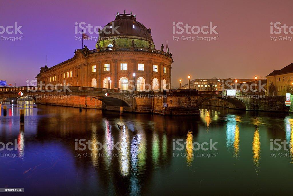 Bode Museum in Berlin By Night stock photo