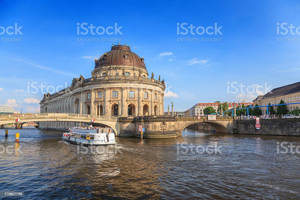 Bode Museum on museum island at Berlin Germany stock photo