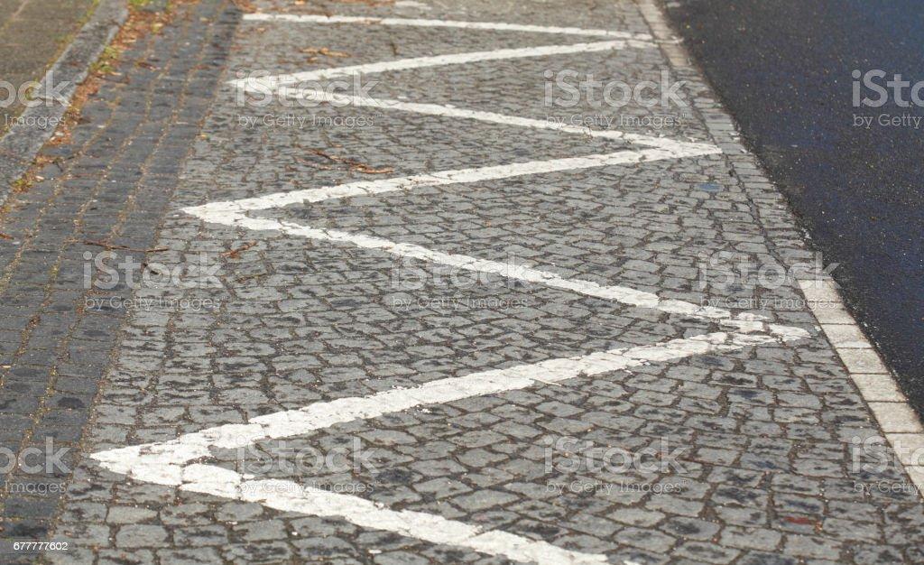 Bodenmarkierung Schraffierung stock photo