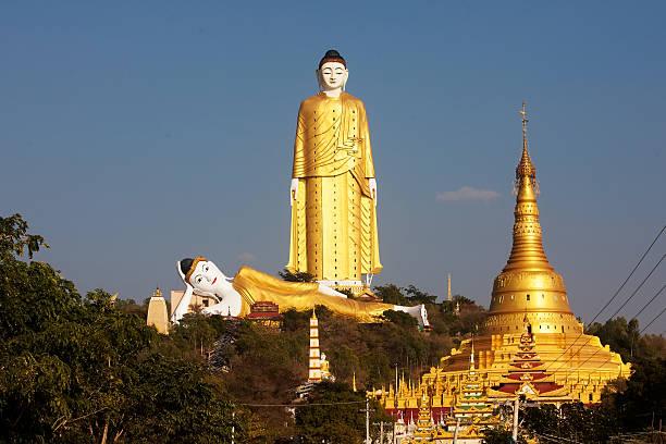 inseln bodhi tataung standing buddha ist der zweitgrößte-statue - größte städte der welt stock-fotos und bilder