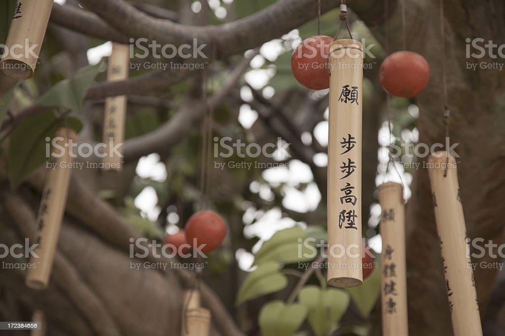 Bodhi Wishing Shrine stock photo