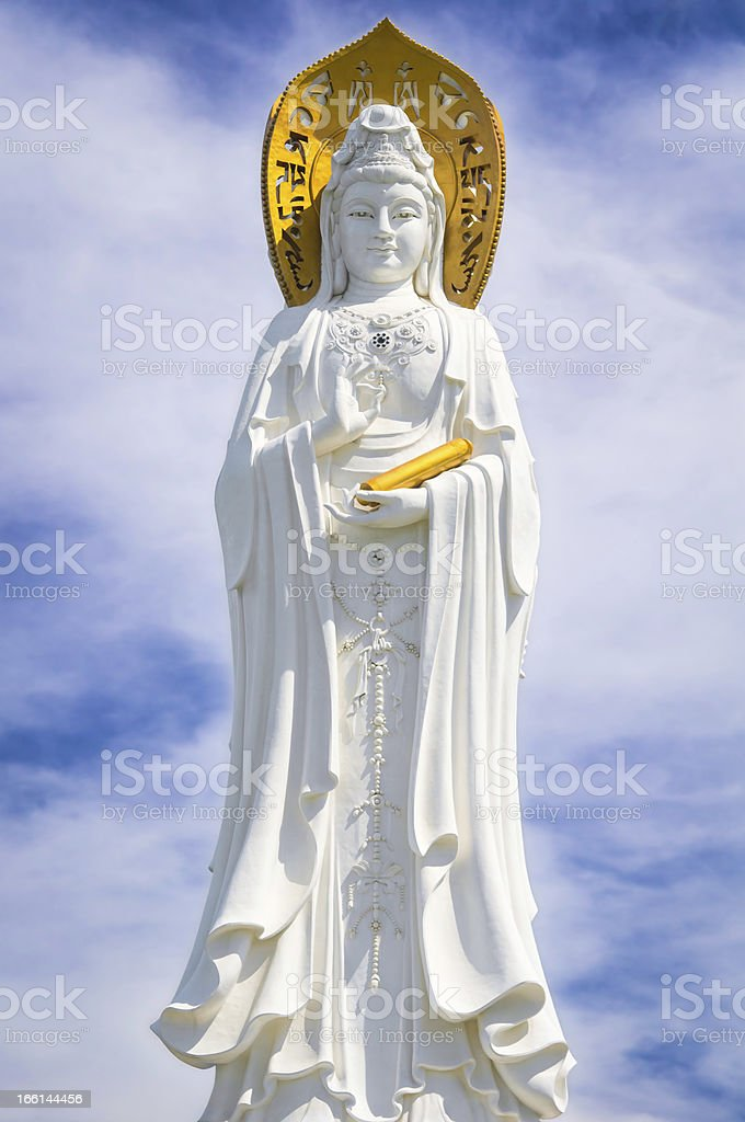 Bodhisattva Guan Yin, Hainan Island, China. stock photo