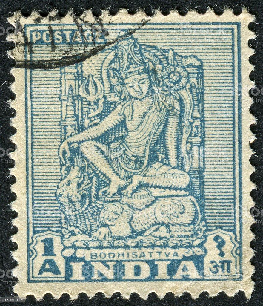 Bodhisattva Stamp royalty-free stock photo