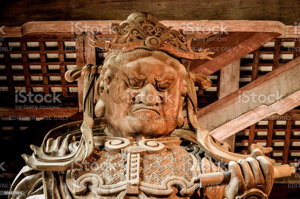 Bodhisattva statue at Todaiji Temple in Japan stock photo