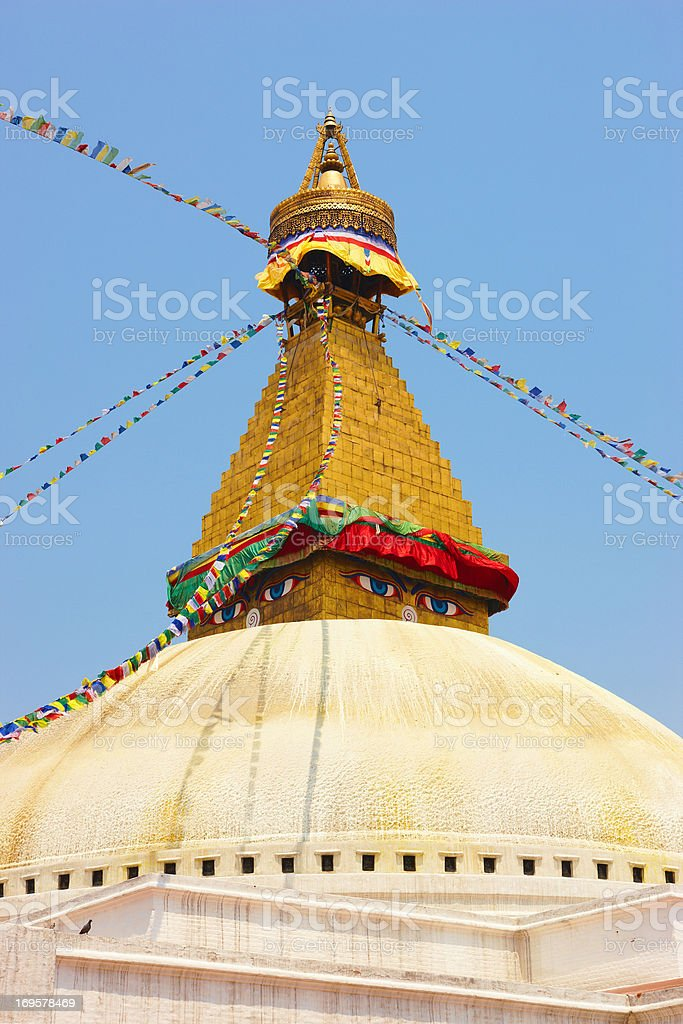 Bodhnath (Kathmandu, Nepal) royalty-free stock photo