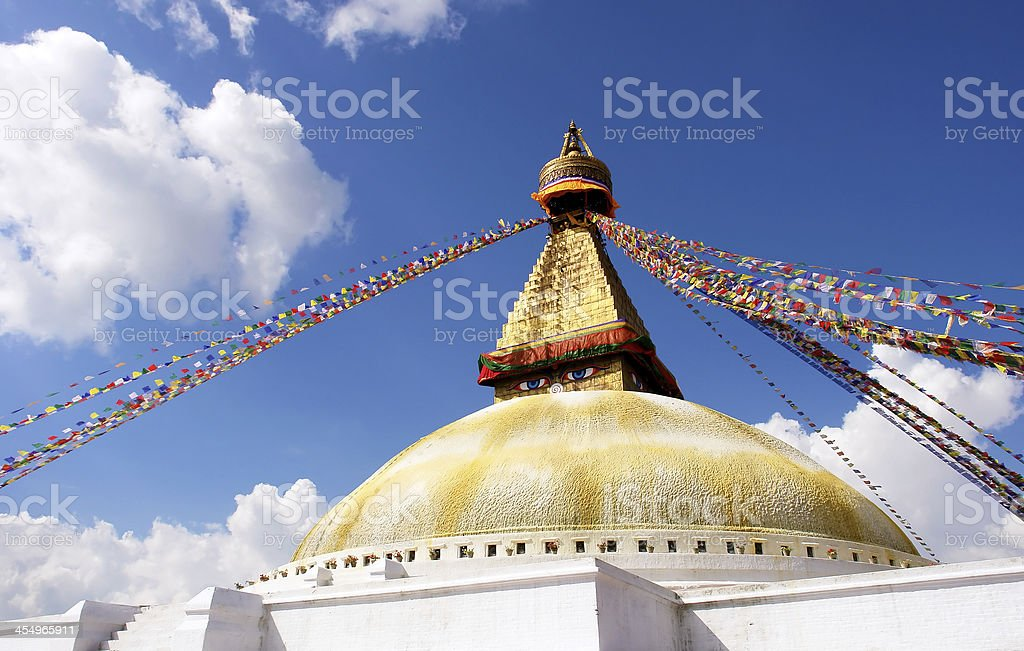 bodhnath stupa in kathmandu stock photo