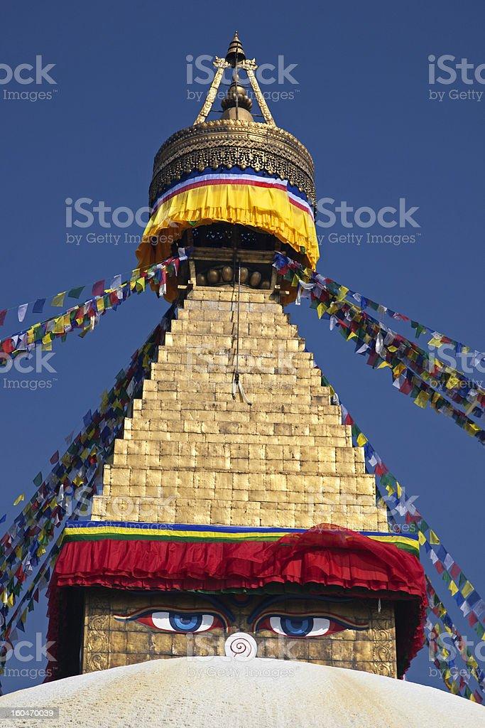 Bodhnath stupa, Kathmandu, Nepal. royalty-free stock photo