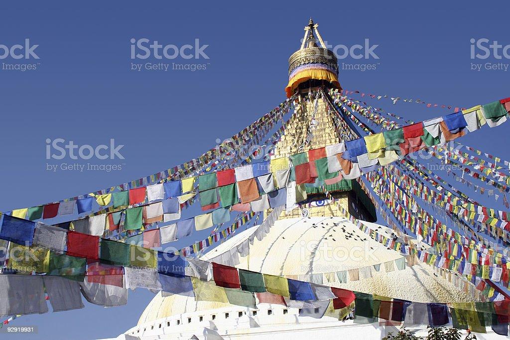 Bodhnath Stupa - Nepal stock photo