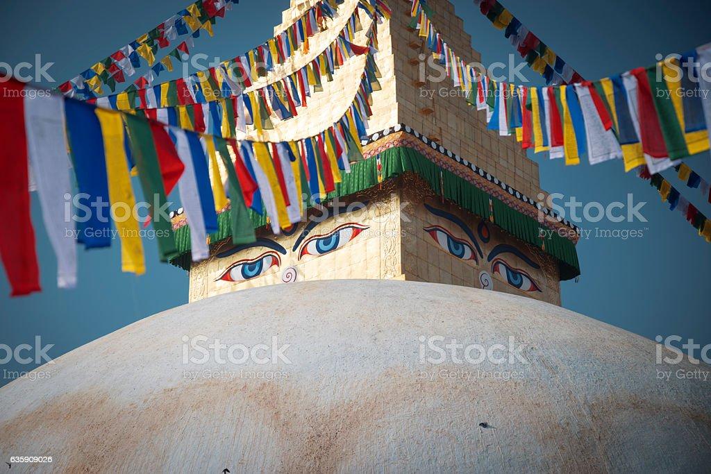 Bodhnath stupa stock photo
