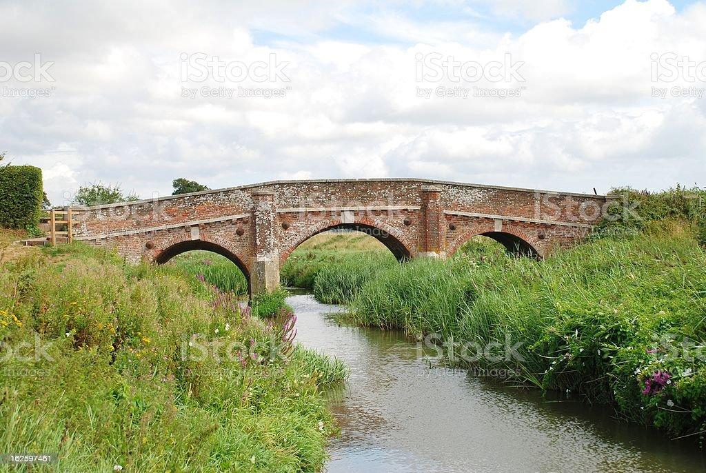 Bodiam bridge, England stock photo
