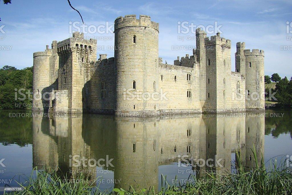Bodiam Castle and Moat stock photo