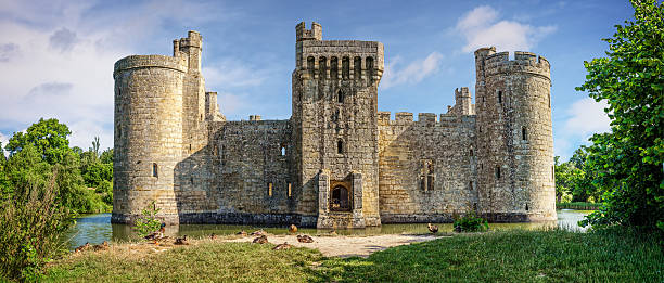 Bodiam Castle in England stock photo