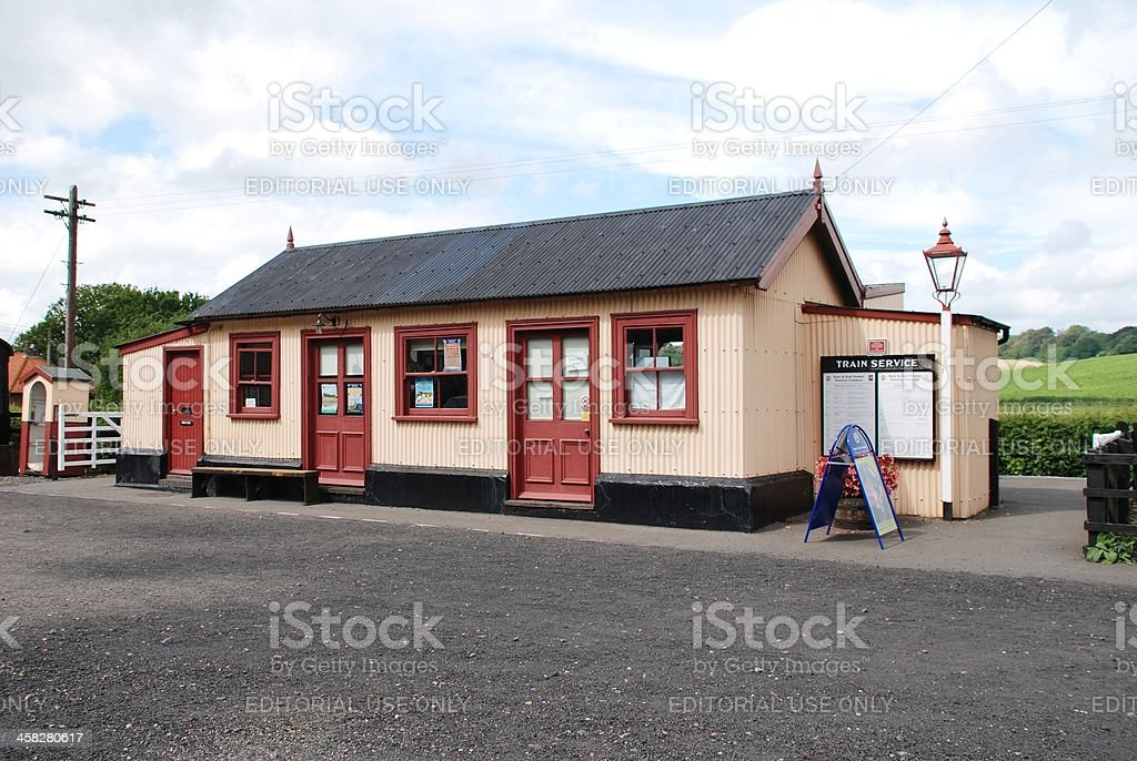 Bodiam railway station, England stock photo