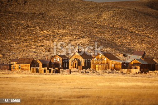 istock Bodie, Californian wild west, Gold Rush ghost town 183415666