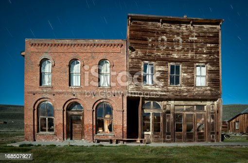 istock Bodie Ghost Town Hotel and IOOF Hall 168507927