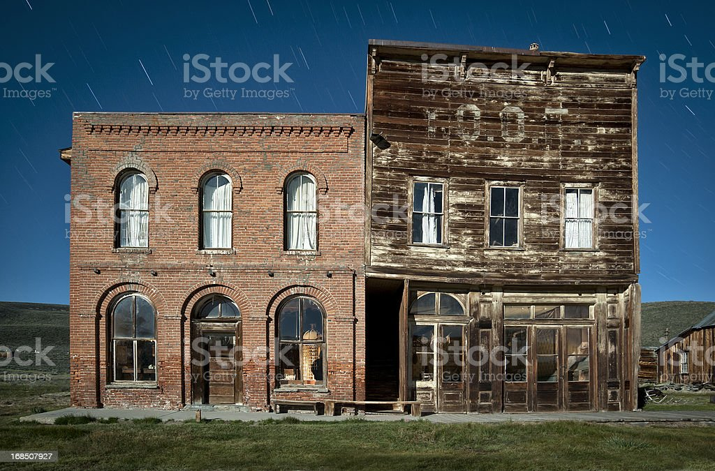 Bodie Ghost Town Hotel and IOOF Hall stock photo