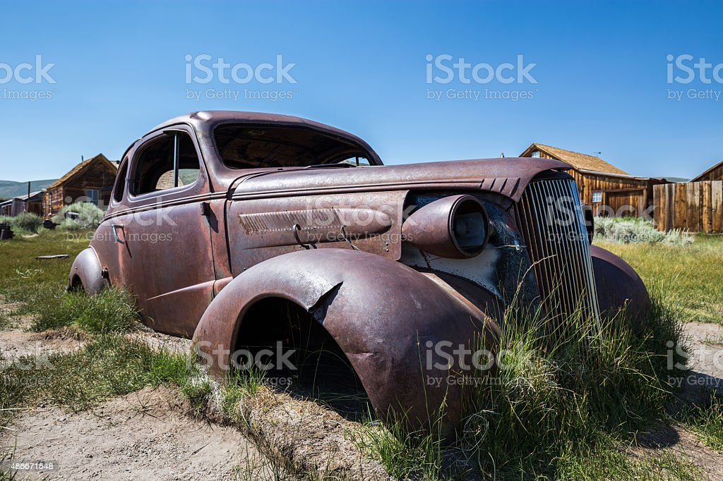 Bodie Ghost Town in California, USA. stock photo