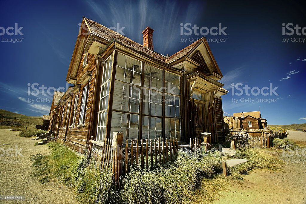 Bodie Ghost Town, Mono County, Sierra Nevada, California stock photo