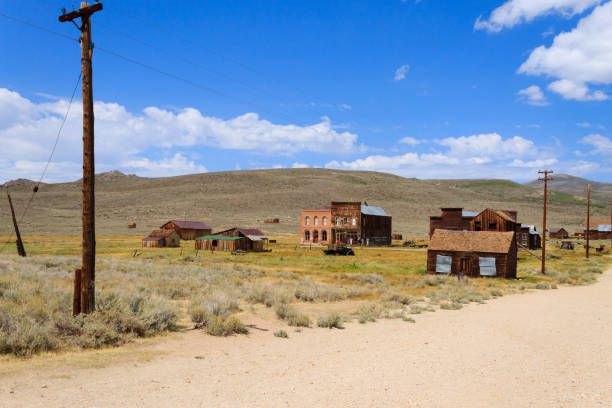 bodie ghost town - western town stock photos and pictures