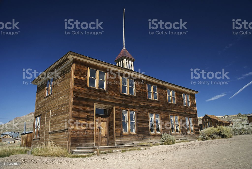 Bodie Ghost Town Post Office Gold Rush Tourist Attraction California stock photo