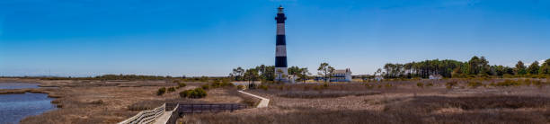 Bodie Island Lighthouse And Board Walk stock photo