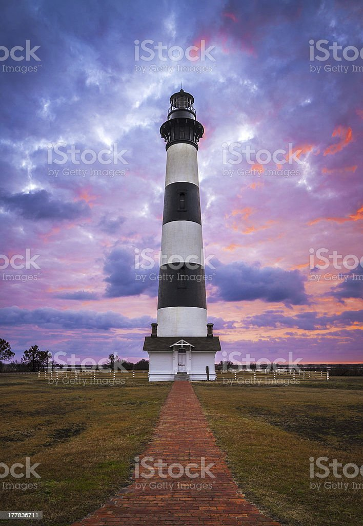 Bodie Island Lighthouse Cape Hatteras National Seashore Outer Banks NC stock photo