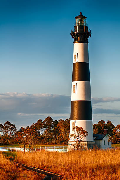 Bodie Island Lighthouse OBX Cape Hatteras North Carolina stock photo