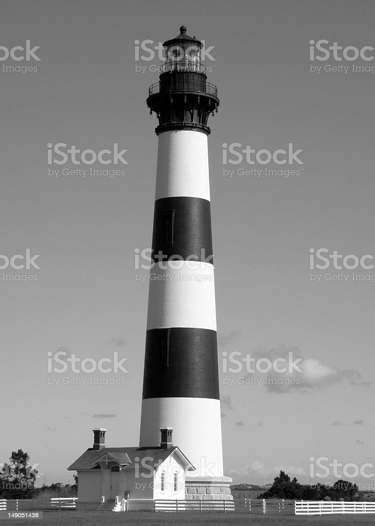 Bodie Island Lighthouse, on North Carolina Outer Banks stock photo