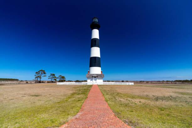 Bodie Island Lighthouse, Outer Banks, North Carolina stock photo