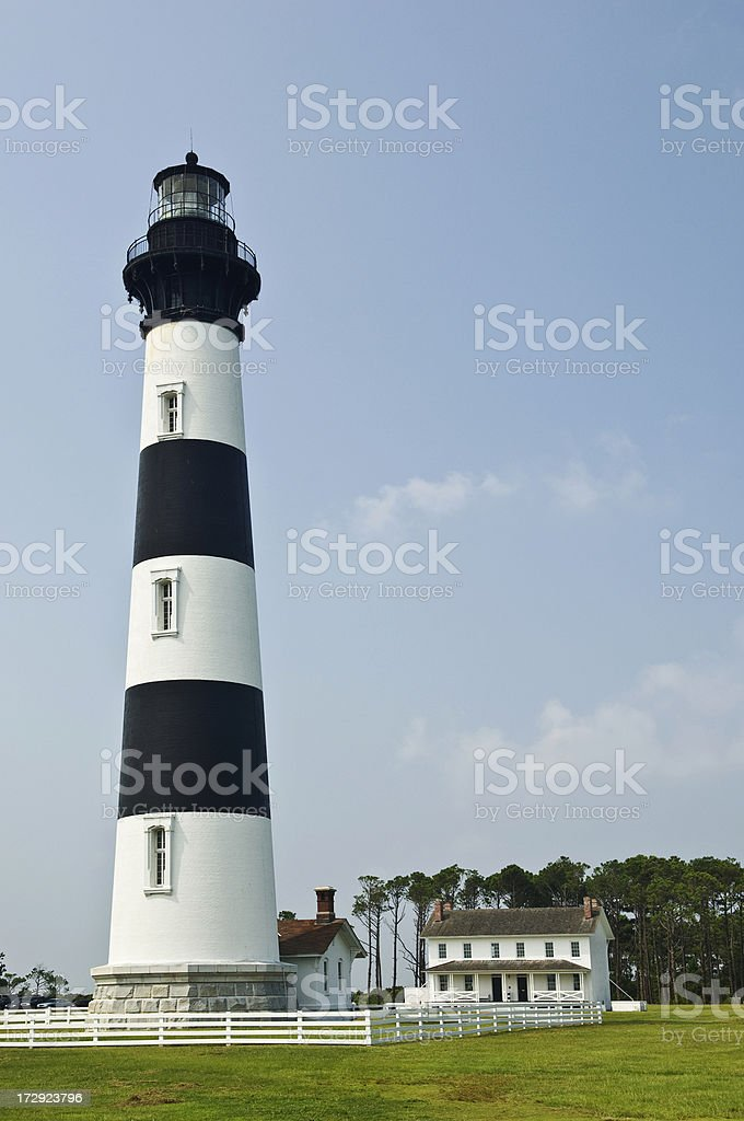 Bodie Lighthouse & Keeper's House stock photo