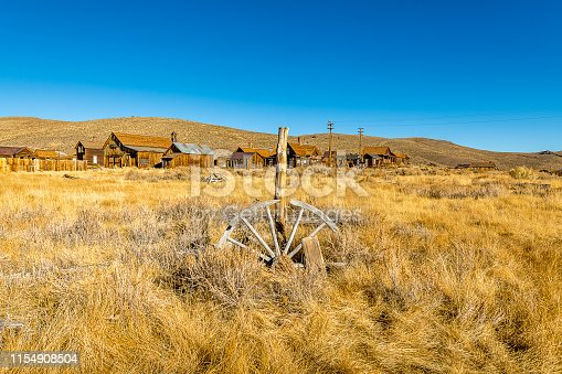Bodie is an abandoned mine town in eastern California that now serves as a tourist attraction for its relic vehicles, vintage signs, and weathered buildings.