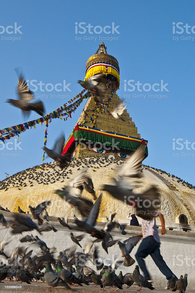 Bodnath Nepal royalty-free stock photo
